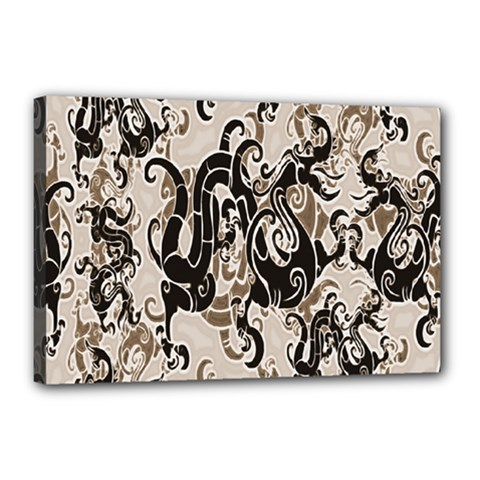 Dragon Pattern Background Canvas 18  X 12