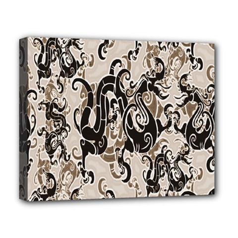 Dragon Pattern Background Deluxe Canvas 20  x 16