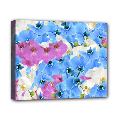 Tulips Floral Pattern Canvas 10  X 8