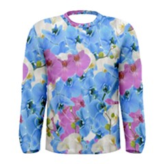 Tulips Floral Pattern Men s Long Sleeve Tee
