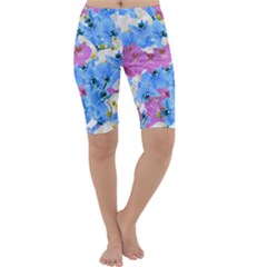Tulips Floral Pattern Cropped Leggings