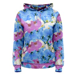 Tulips Floral Pattern Women s Pullover Hoodie