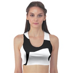 Greyhound Silhouette Sports Bra