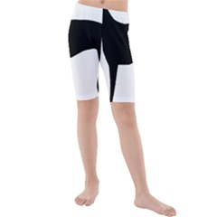 Greyhound Silhouette Kids  Mid Length Swim Shorts