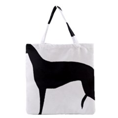 Greyhound Silhouette Grocery Tote Bag