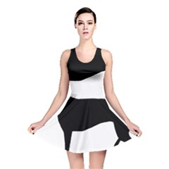 Greyhound Silhouette Reversible Skater Dress
