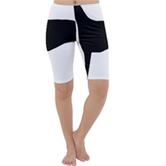 Greyhound Silhouette Cropped Leggings