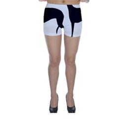 Greyhound Silhouette Skinny Shorts