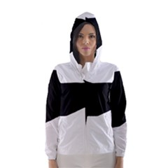 Greyhound Silhouette Hooded Wind Breaker (Women)
