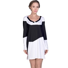 Greyhound Silhouette Long Sleeve Nightdress