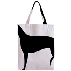 Greyhound Silhouette Zipper Classic Tote Bag
