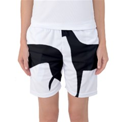 Greyhound Silhouette Women s Basketball Shorts