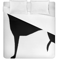 Greyhound Silhouette Duvet Cover (King Size)