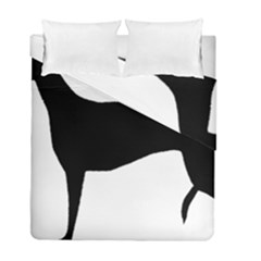 Greyhound Silhouette Duvet Cover Double Side (Full/ Double Size)