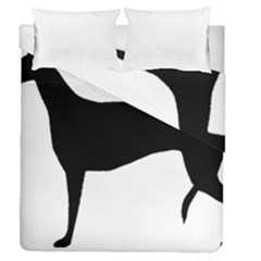 Greyhound Silhouette Duvet Cover Double Side (Queen Size)