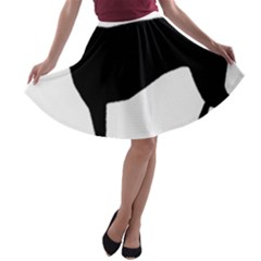 Greyhound Silhouette A-line Skater Skirt