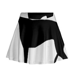 Greyhound Silhouette Mini Flare Skirt