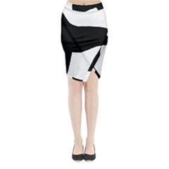 Greyhound Silhouette Midi Wrap Pencil Skirt