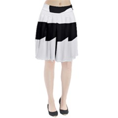 Greyhound Silhouette Pleated Skirt