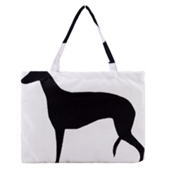 Greyhound Silhouette Medium Zipper Tote Bag