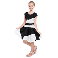 Greyhound Silhouette Kids  Short Sleeve Dress