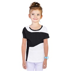 Greyhound Silhouette Kids  One Piece Tee