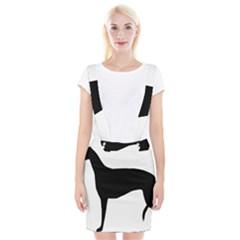 Greyhound Silhouette Braces Suspender Skirt