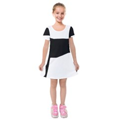 Greyhound Silhouette Kids  Short Sleeve Velvet Dress
