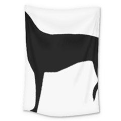 Greyhound Silhouette Large Tapestry