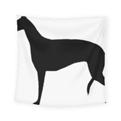 Greyhound Silhouette Square Tapestry (Small)