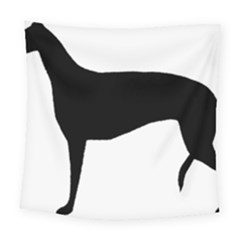 Greyhound Silhouette Square Tapestry (Large)