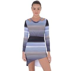 Pompey Beach Asymmetric Cut Out Shift Dress