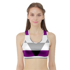 Autochorissexual Sports Bra with Border