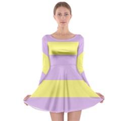 Aporagender Long Sleeve Skater Dress