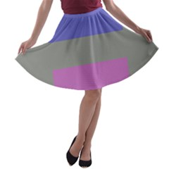 Androgynous A-line Skater Skirt