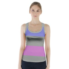 Androgynous Racer Back Sports Top