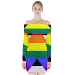 Ally Long Sleeve Off Shoulder Dress
