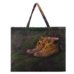 Hiking Boots Zipper Large Tote Bag
