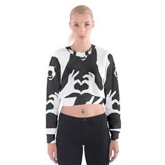 Love Bear Silhouette Cropped Sweatshirt