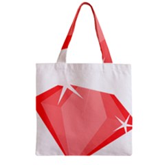 Ruby Zipper Grocery Tote Bag