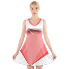 Ruby V-Neck Sleeveless Skater Dress