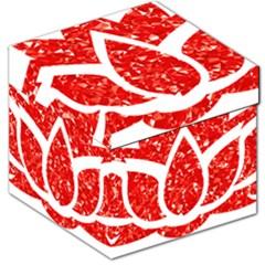 Ruby Lotus Storage Stool 12
