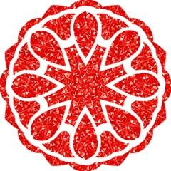 Ruby Lotus Hook Handle Umbrellas (Large)