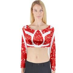 Ruby Lotus Long Sleeve Crop Top