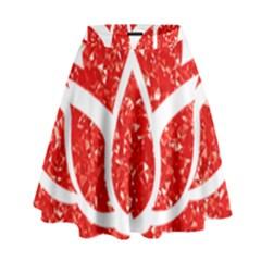 Ruby Lotus High Waist Skirt