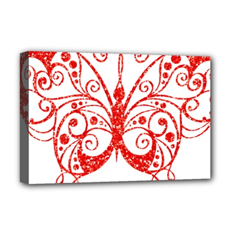 Ruby Butterfly Deluxe Canvas 18  x 12