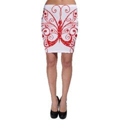 Ruby Butterfly Bodycon Skirt