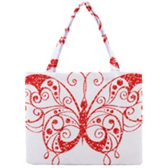 Ruby Butterfly Mini Tote Bag