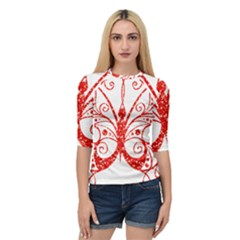Ruby Butterfly Quarter Sleeve Tee