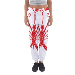 Ruby Butterfly Women s Jogger Sweatpants